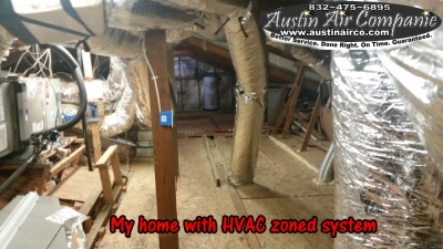 HVAC zoned system attic installation